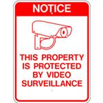 This Property Protected by Video Surveillance Reflective Aluminum Sign