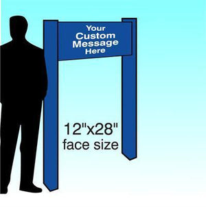 "12"" x 28"" Aluminum Post & Panel Sign - AdVision Signs"