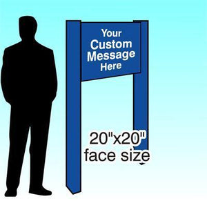 "20"" x 20"" Aluminum Post & Panel Sign - AdVision Signs"