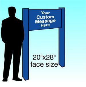 "20"" x 28"" Aluminum Post & Panel Sign - AdVision Signs"