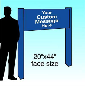 "20"" x 44"" Aluminum Post & Panel Sign - AdVision Signs"