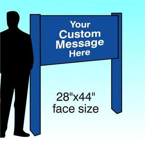 "28"" x 44"" Aluminum Post & Panel Sign - AdVision Signs"