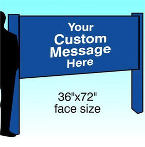 "36"" x 72"" Aluminum Post & Panel Sign - AdVision Signs"