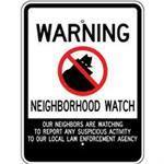 "18""x 24"" WARNING NEIGHBORHOOD WATCH Reflective sign"