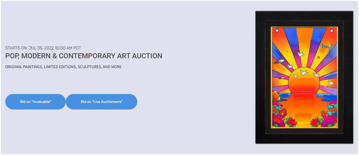 AFFORDABLE MODERN & CONTEMPORARY ART AUCTION | 11:00 AM PT - JUL 10TH, 2020