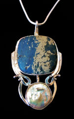 Leland Blue and Coin Pearl Pendant SOLD