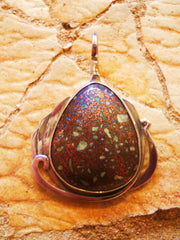 Copper Fire Brick (Michigan) Pendant