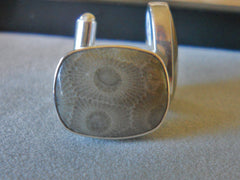 Petoskey Stone Cuff Links - SOLD