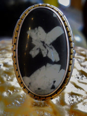Chinese Writing Stone (California) Ring
