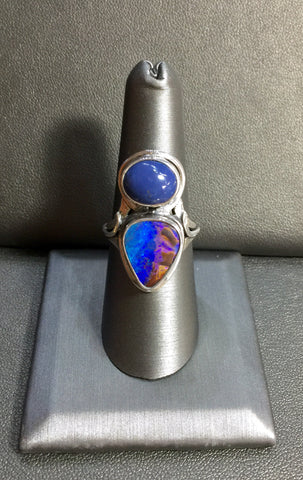 Leland Blue and Boulder Opal Ring