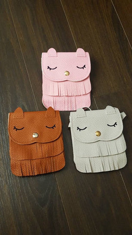 Owl Leather kids Purses