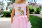 Striped Unicorn Tutu Dress