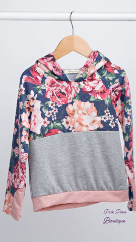 Peach floral Hoodies