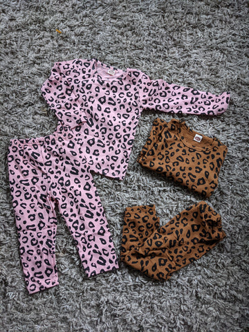 Leopard print lounger sets