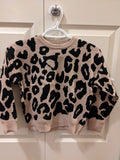 Leopard knitted pullover