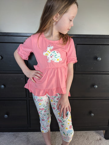Easter peplum top and crop pants