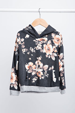 Floral French Terry Hoodie kids