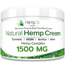 Load image into Gallery viewer, All Natural Premium Organic Hemp Oil Cream  -1500mg- Fast Acting