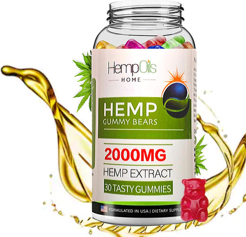 Two Pack 30 Ct. Strawberry Organic Hemp Oil Infused Gummies 2000 MG