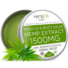 Load image into Gallery viewer, Organic Hemp Oil Salve  - 1500 MG - High Strength - 100% Natural