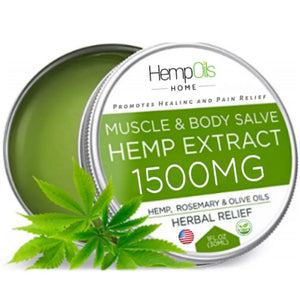Organic Hemp Oil Salve  - 1500 MG - High Strength - 100% Natural