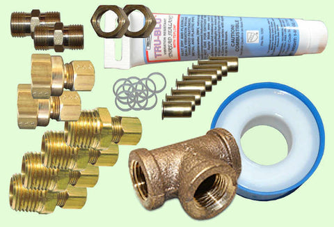 Fittings Kit for RV/Boat with Built-In Heat Exchanger