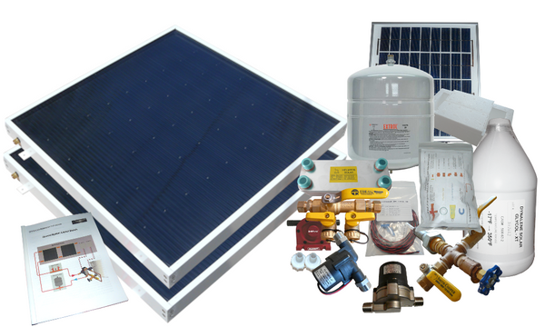 Beach Freeze Protected Solar Hot Water Kit