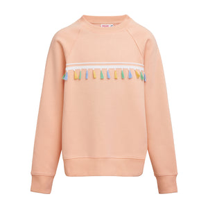Spring in eine Pfütze! Sweater mit Applikationen