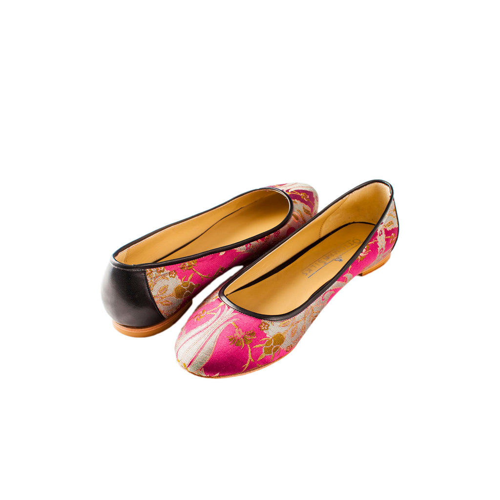 ottoman silks ladies shoes in amina fabric
