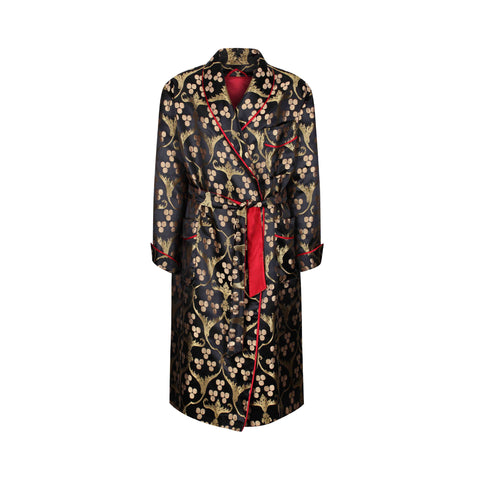 ottoman silks men's dressing gown in Hatice fabric