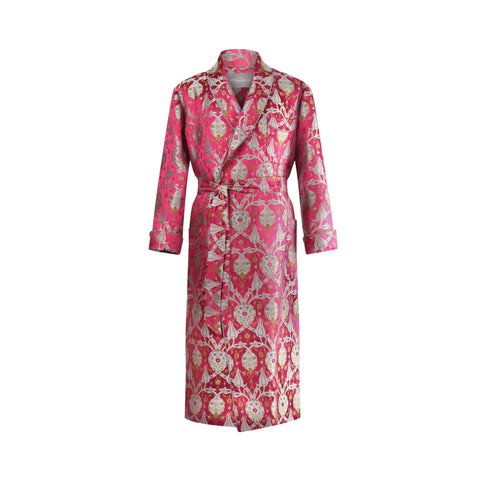 ottoman silks men's dressing gown in amina fabric