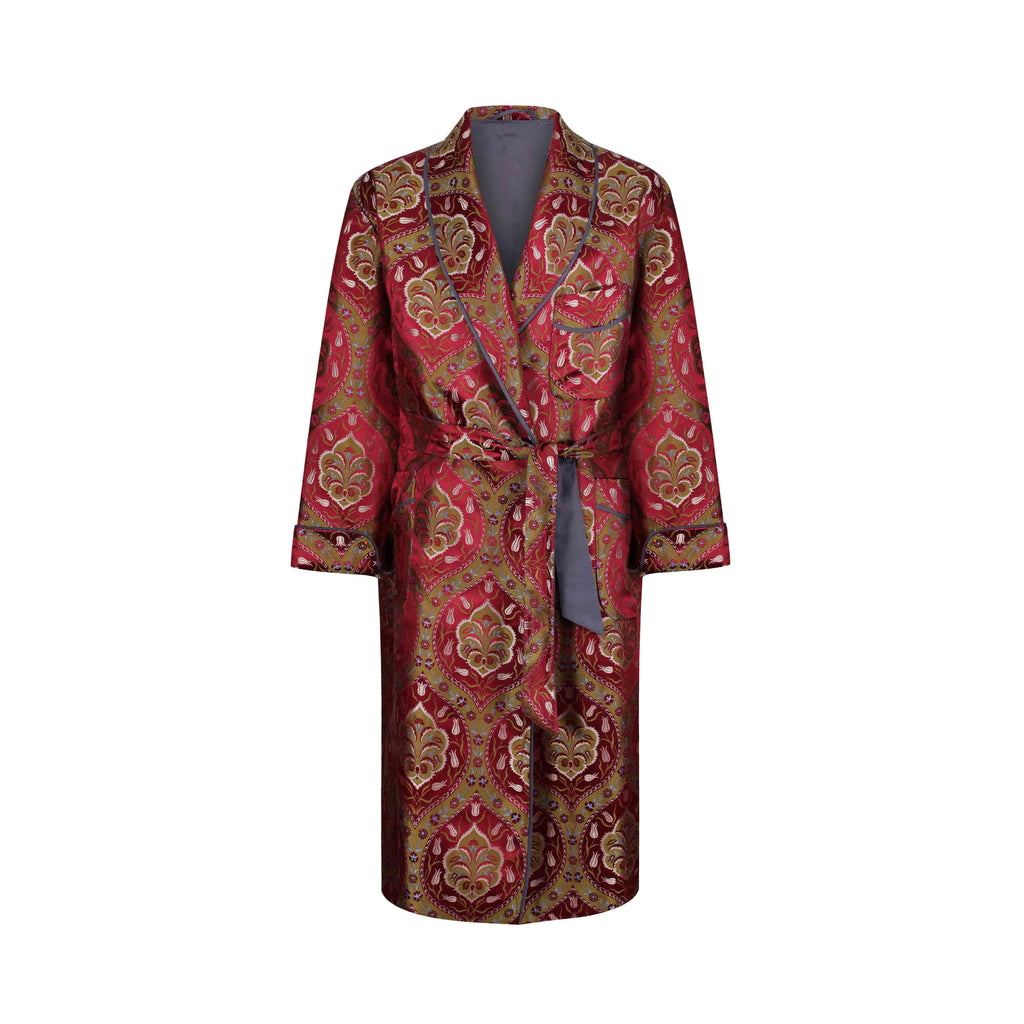 ottoman silks men's dressing gown in saliha fabric