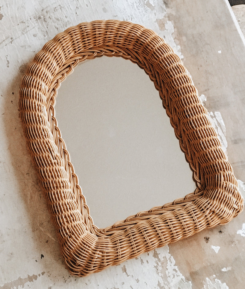 Rattan Arched Mirror