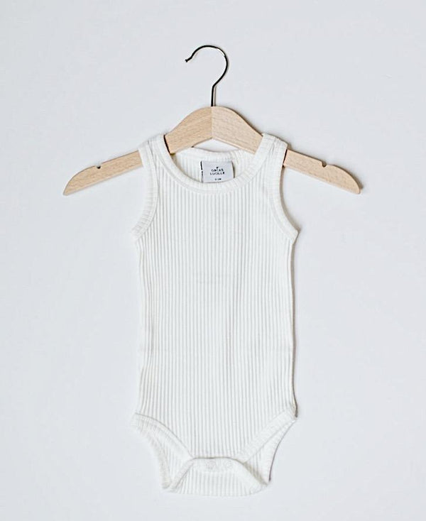 Milk Ribbed Bodysuit