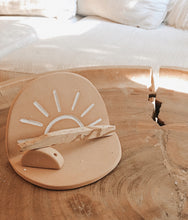 Load image into Gallery viewer, SUN WORSHIPPER PALO SANTO INCENSE HOLDER WITH ARCH STAND