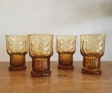 Load image into Gallery viewer, Vintage Libby Amber Country Glassware