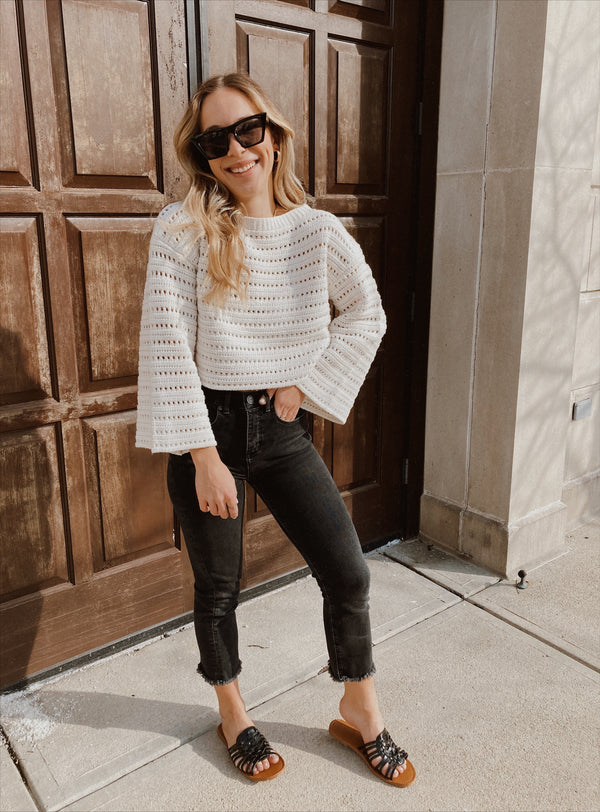 Sydney Cropped Knit Sweater