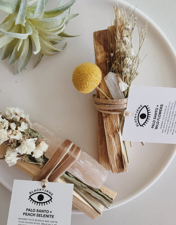 Palo Santo + Wildflowers Quartz Bundle