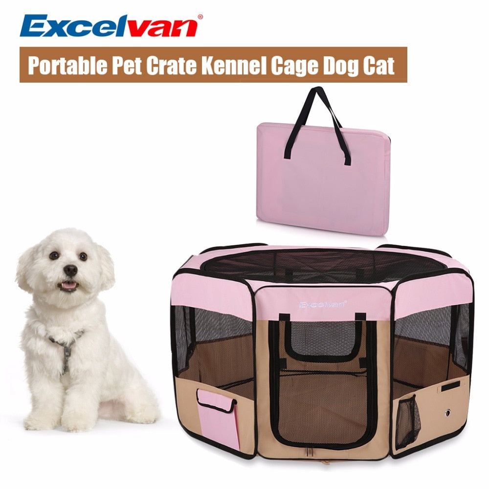 Portable Soft Tent Kennel Playpen Fabric Foldable  M L Size