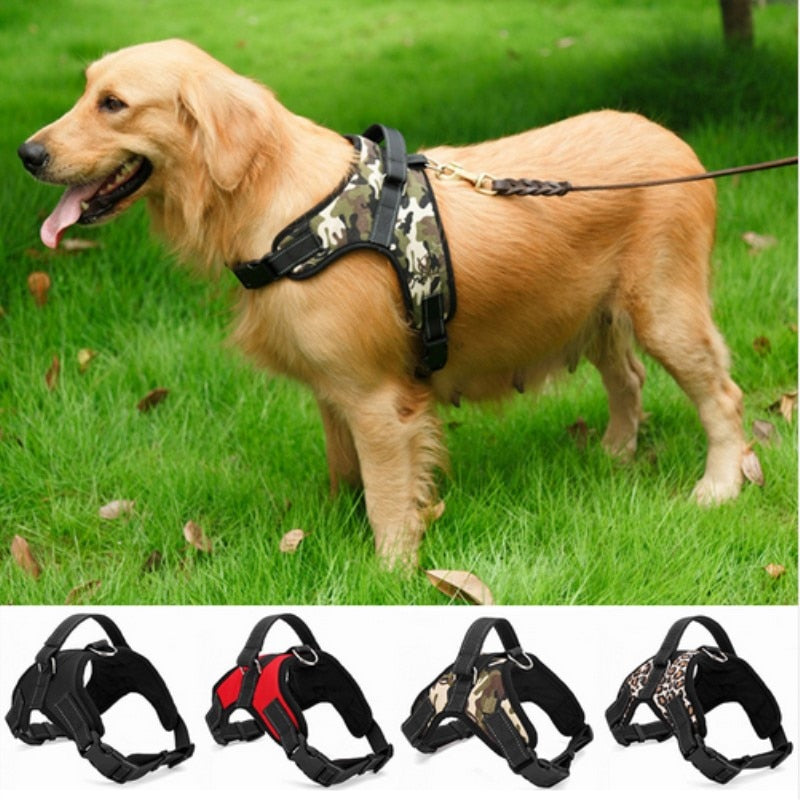 Nylon Dog Harness Collar Large Medium Small Dog Explosion-proof Traction Rope