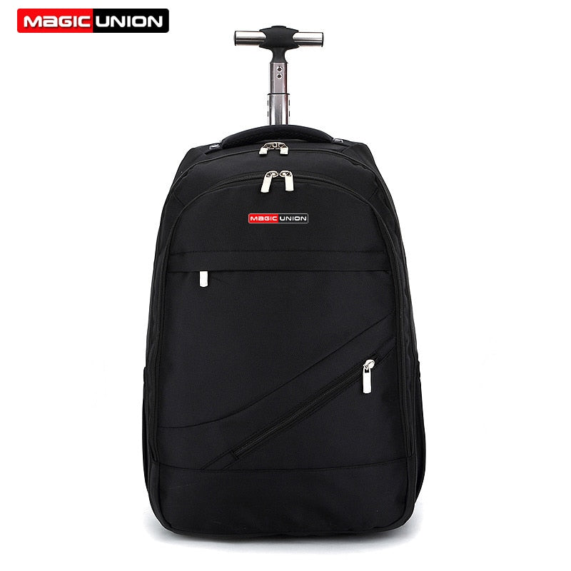 Men's Travel Backpack Polyester Waterproof Trolley
