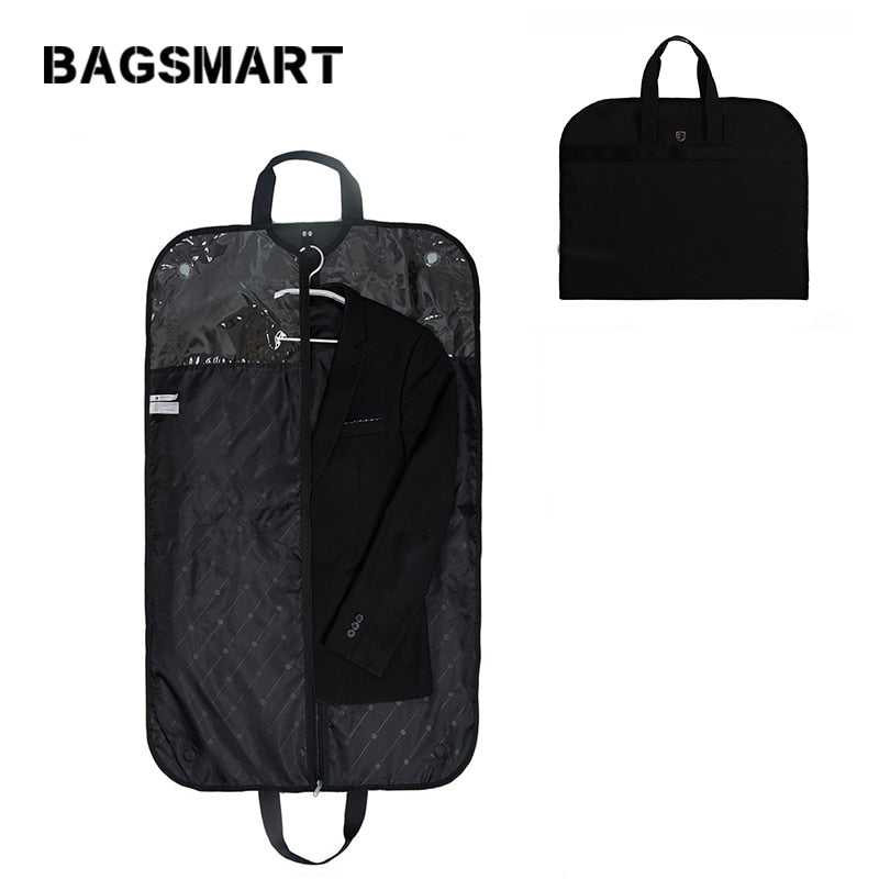 Lightweight Black Nylon Suit/Garment Bag Waterproof