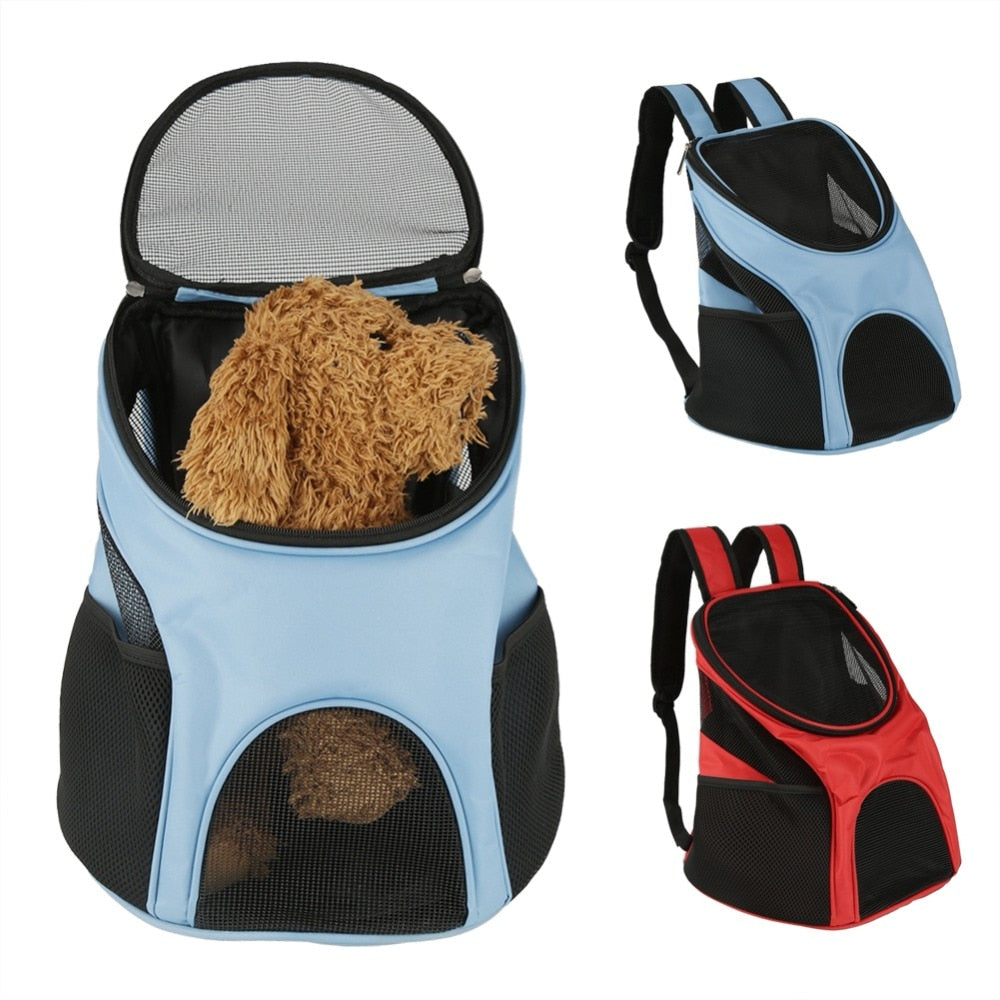 Portable Pet Double Shoulder Carrier Backpack Breathable Mesh