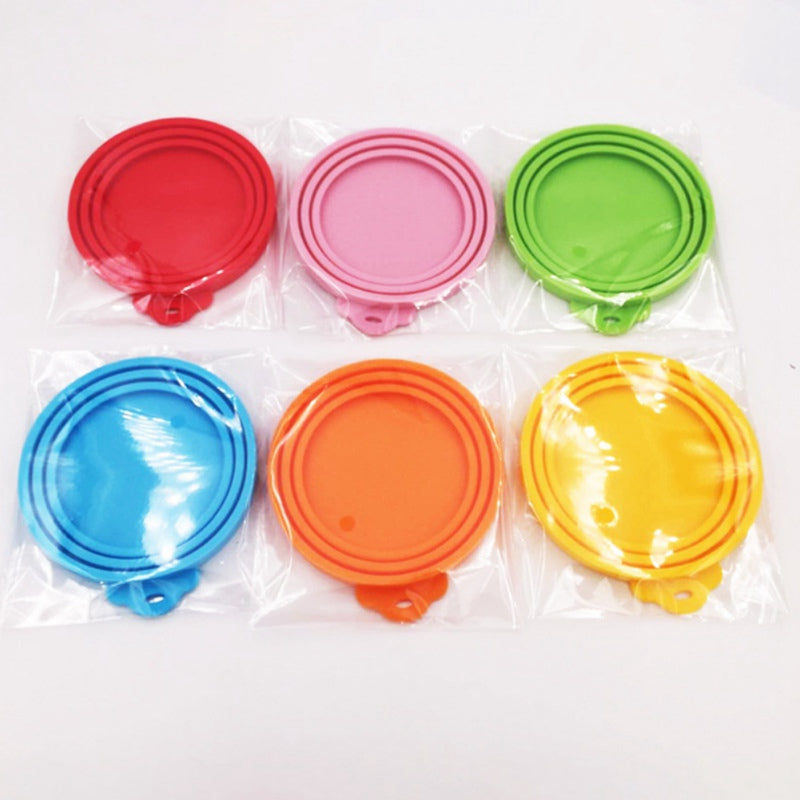 Pet Silicone Canned Lid Cover Food Storage Top Cap Reusable