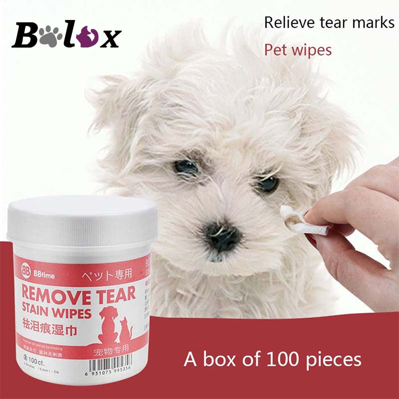 Pet Eye Wet Wipes Tear Stain Remover Gentle Non-Invasive