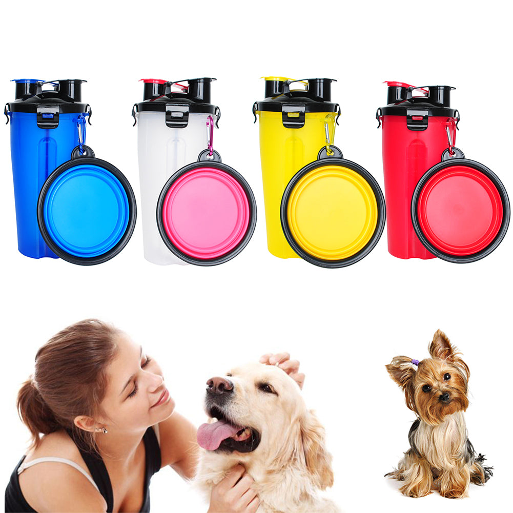 Pet water cups two parts