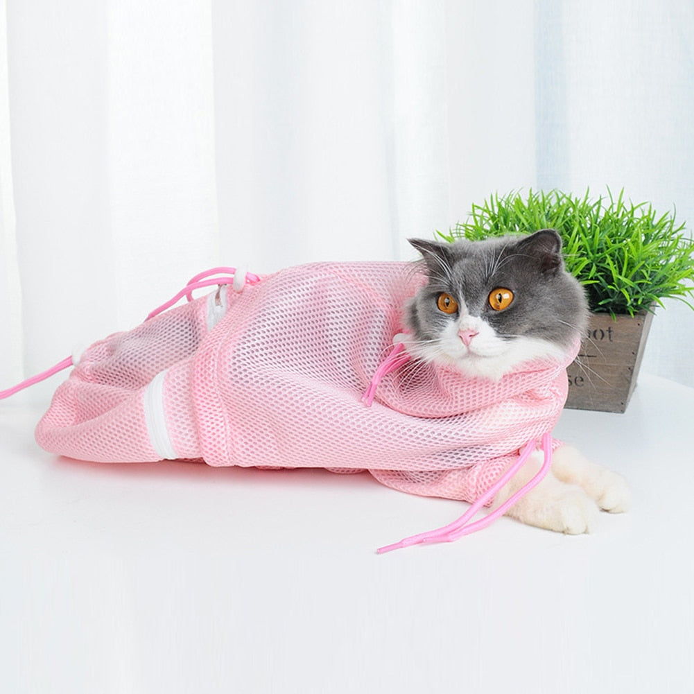 Cat bath bag multi-function