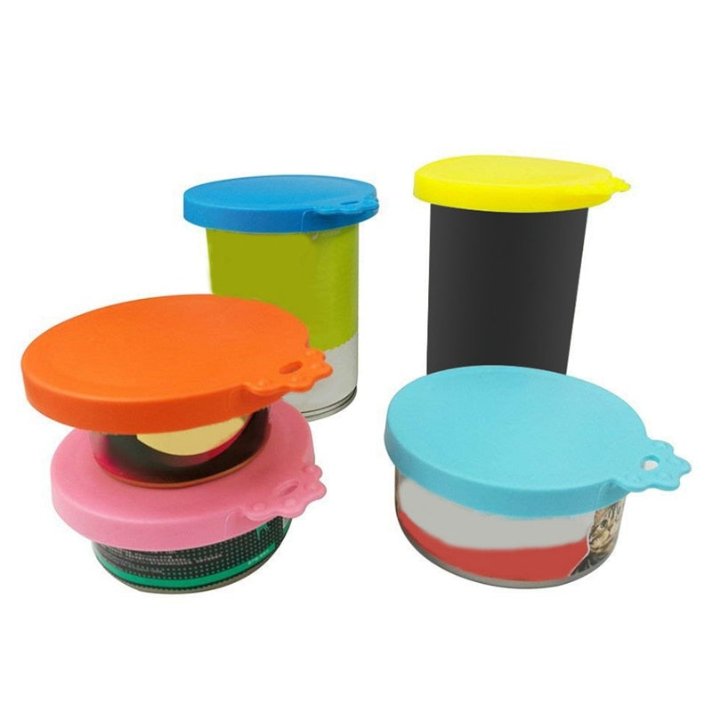 Reusable silicone Pet Food lids