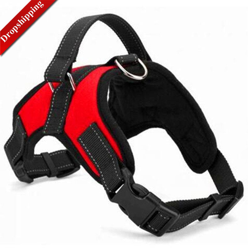 Adjustable Nylon No Pull Dog Harness Vest For Big Dog  XL- Medium