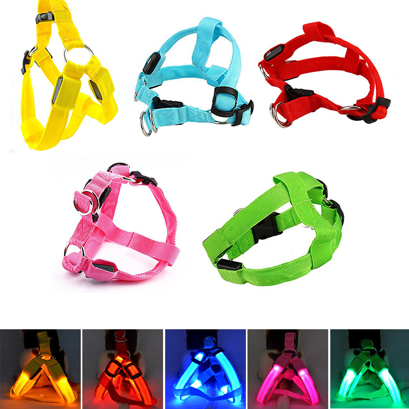 Nylon Pet Safety LED Harness Flashing Light